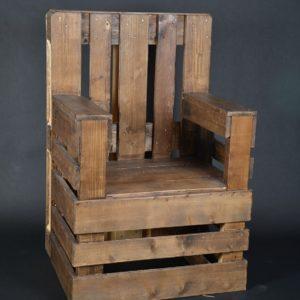 fauteuil palette, trône, bois recyclé
