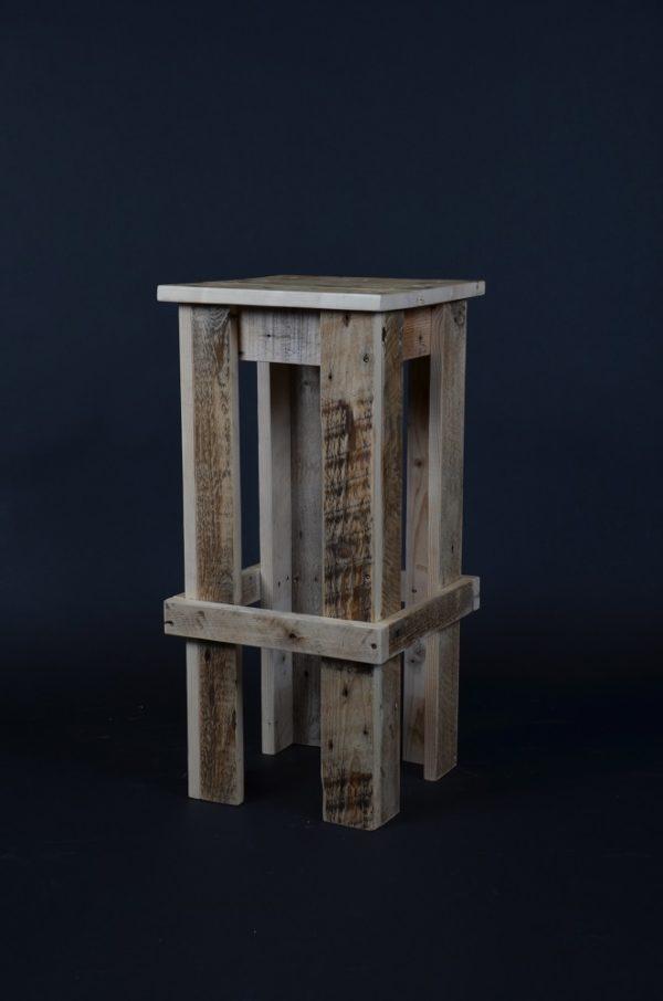 Tabouret palette, bois, bois recyclé, style industriel