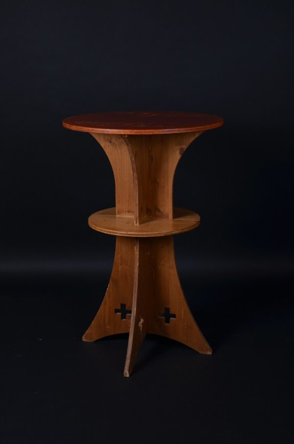 table haute, mange-debout en bois